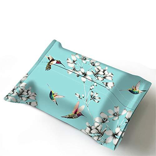Tiffany Set (ENXING Kosmetiktücherboxen Europäischer Tissue-Boxstoff mit wasserfestem Papierhandtuchhalter (Van Gogh-Stil) 27 x 17 cm Tiffany-Grün)