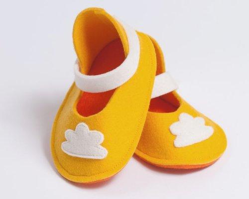 Wolle Wunderschönen Gelb Baby sunny Von Schuhe Handgefertigt Day Höchster Qualität 0dY5UwnF