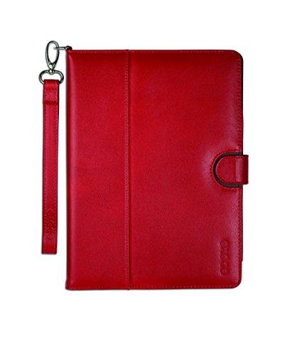 Gosh - Custodia in vera pelle per iPad Air, rosso