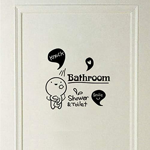 JXNY Diy bad dusche & wc vinyl wandaufkleber wandtattoo abnehmbare kunst tapete für wohnkultur haus dekoration 45x50 cm