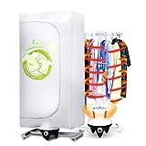 Piccolo essiccatore per uso domestico, pieghevole Mini ventilatore riscaldatore doppio essiccatore Intelligente multifunzione Alimentazione silenziosa Risparmio di archiviazione facile (15kg bianco)