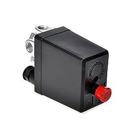 Haobase Compressore d'aria Pressostato Valvola di Controllo 90 – 120 PSI 240 V