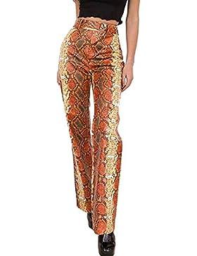 Pantalones Anchos de Primavera y otoño para Mujer Pantalones Anchos de impresión Elegante de Serpiente Pantalones...