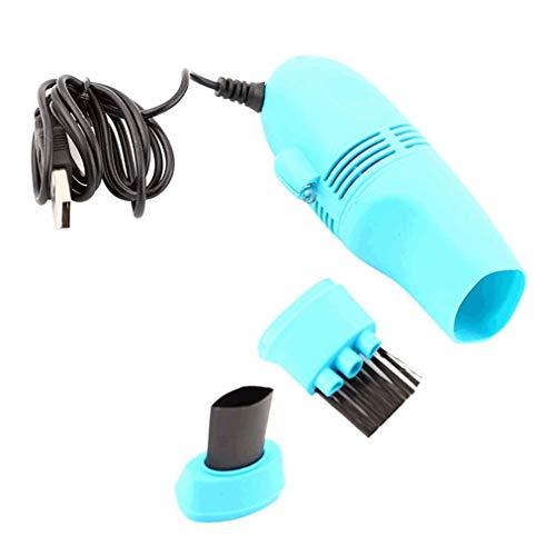 Poualss 1 STÜCKE Mini Staubsauger USB Tastaturreiniger Kit Notebook Tastatur Reinigungsbürste Staubsammler 5 Farben (Himmelblau)