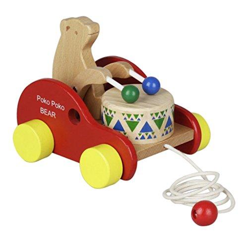 Baoblaze Spielzeug Bären Trommel Schlagen Auto Auf Rädern für Kinder Kinder Weihnachtsgeschenk