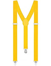 Taffstyle® Damen Herren Bunte Neon & Uni Farben - Y Form - Hosenträger mit 3 Clips