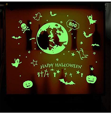 ber Aufkleber Halloween Thema Poster Goblin Kürbis leuchten Glow-in-The-Wall Sticker bat Schamane, 60 * 90 cm, Festliche Dekorationen ()