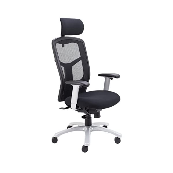 Office Hippo Physio Approved 24-Hour Executive Office Chair with Headrest and Adjustable Arms, Fabric, Black, 152 kg Weight Tolerance 41R6kilEBlL