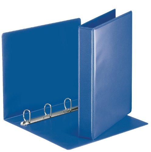 Esselte 49715 Ringbuch Präsentation, mit Taschen, A4, PP, 4 Ringe, 30 mm, blau