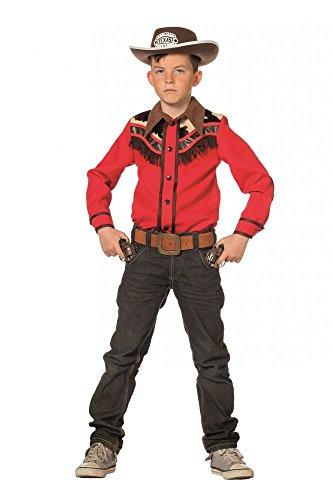 Hochwertiges Cowboy Hemd für Jungen Kinderkostüm Kostüm Western Kinder Wildwest, Größe:128