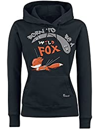Sunnywall Fuchs  MOTIVAUSWAHL  - Fox Sweatshirt Hoodie Ladyfit Damen Kapuzen  schwarz… a2edb5a8e8