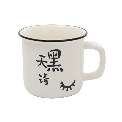 TIANLIANG04 Becher、Kaffeetassen Vintage Keramik Becher Imitation Emaille Tasse Liebhaber Cup Home,...