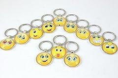 Idea Regalo - Subito disponibile 12 Pezzi Portachiavi Emoticon Emoji Smile 1 A Scelta bomboniera