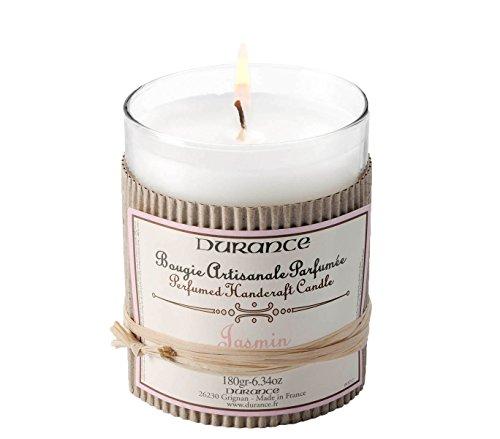 Jasmin Bougie parfumée fabriqué à la main par Durance – 180 g