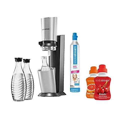 SodaStream Crystal Super Spar Pack - Silver and Titanium Soda Machine for Carbonating Water