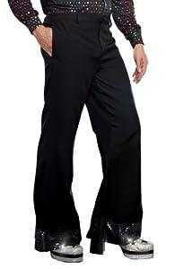 DreamGirl-Disfraz de Pantalones de Disco para Hombre, Negro 2 X-Grande