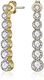 Mestige MSER3310 Women's Gold Plated Crystals Stud Earr