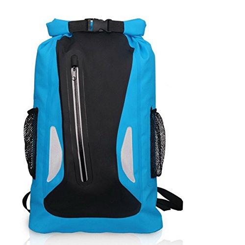 Imagen de acmebon  estanca unisex ligera impermeable bolsa de viaje de aventuras para actividades al aire libre como escalada,kayak,canotaje,piragüismo,pesca,rafting,baño azul 604