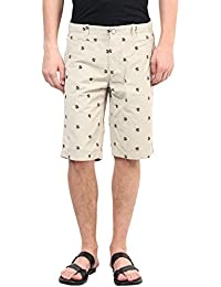 Upperclass Men Beige Cotton Casual Shorts (MSHO-15616_Beige)