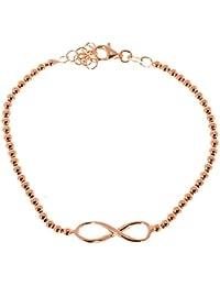 Córdoba Jewels | Pulsera en plata de ley 925 bañada en oro rosa con diseño Infinito Oro Rosa