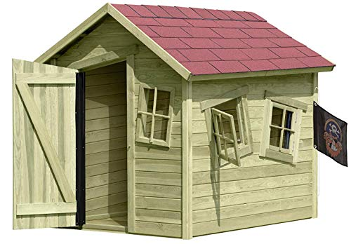 Gartenpirat Spielhaus Marie-Fun aus Holz Gartenhaus für Kinder