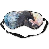 Sleep Mask Black Horse Eye Cover Blackout Eye Masks,Soothing Puffy Eyes,Dark Circles,Stress,Breathable Blindfold... preisvergleich bei billige-tabletten.eu