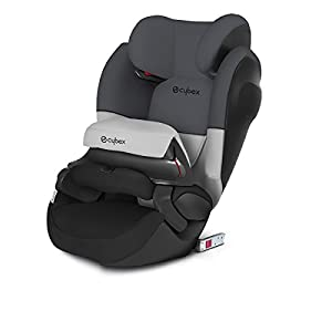 CYBEX Silver 2-in-1 Kinder-Autositz Pallas M-Fix SL, Für Autos mit und ohne ISOFIX, Gruppe 1/2/3 (9-36 kg), Ab ca. 9 Monate bis ca. 12 Jahre, Gray Rabbit