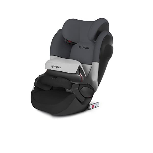 CYBEX Silver Pallas M-Fix SL 2-in-1 Child's Car Seat, For Cars with and without ISOFIX, Group 1/2/3 (9-36 kg), From approx. 9 Months to approx. 12 Years, Gray Rabbit  Sturdy and high-quality child car seat for long-term use - For children aged approx. 9 months to approx. 12 years (9-36 kg), Suitable for cars with and without ISOFIX Maximum safety - Depth-adjustable impact shield, Built-in side impact protection (L.S.P. System) 12-way adjustable, comfortable headrest, Easy conversion to Solution M-Fix SL for children from 3 years (group 2/3) by removing impact shield and base, Adjustable backrest 1