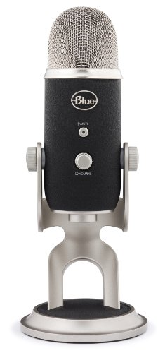 Blue Microphones Yeti - Micrófono de condensador USB (multimodo), color gris y negro