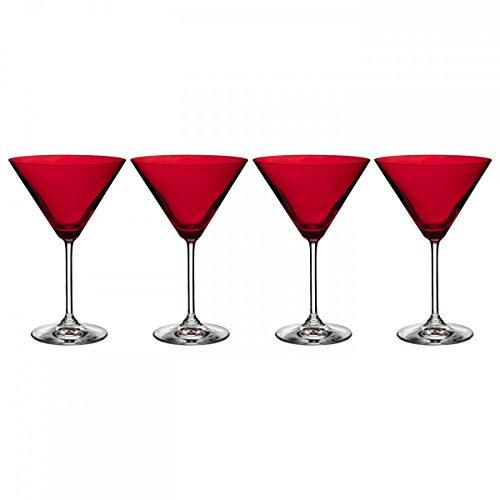 Marquis by Waterford Weißweingläser-Martini-Glas, Rot, 4 Stück - Lead-free Crystal Stemware