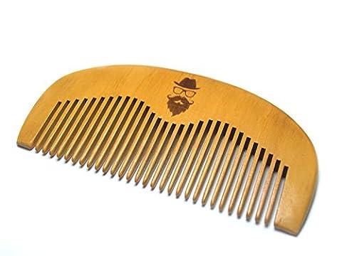Barbe peigne en bois pour hommes Groom, peigne fait à la main à partir de bois naturel, format de poche pour barbe et moustache Peigne de toilettage, avec barbe barbe application facile d'huile, cire et Baumes. Fait main par la barbe Mate
