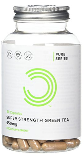BULK POWDERS Super Strength Green Tea for Fat Loss, 450 mg, Pack of 90 Capsules