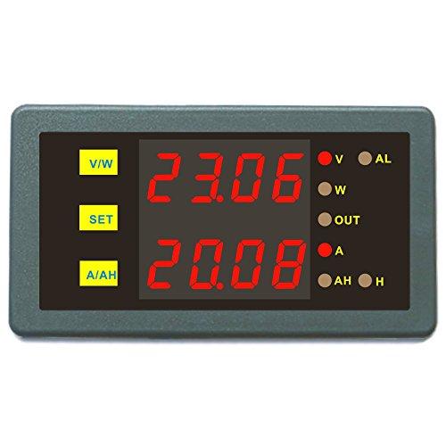 Monitor de batería DC programable medidor controlador 0 - 200 V 0 - 1000 A V Amp Power Ah Auto apagado comprobador de batería 200V 750A