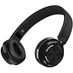 Auriculares Bluetooth Inalámbrico con Cancelación Ruido, MeihuaTu Sobre Oreja Audífonos estéreo de HiFi con micrófono Incorporado para iPhone 8/7/x/6,tabletas PC Samsung Huawei Xiaomi TV Mp4 (Negro)