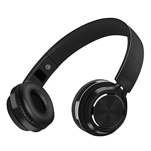 Cuffie bluetooth wireless con cancellazione del rumore e microfono incorporato,meihua tu auricolare bluetooth con stereo hi-fi per iphone x/8/7/6s,samsung,ps4,pc,tv,ipad e computer (nero)