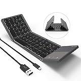 Clavier Tri-Pliable Jelly Comb Clavier Bluetooth Sans Fil et Filaire 2 en 1 avec...