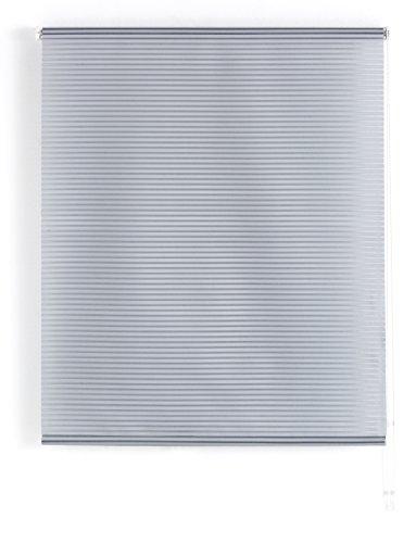 Blindecor Iris Estor Enrollable Translucido Rayado 140X180 Gris, Gris, 140 X 180 cm