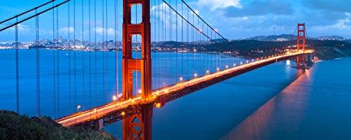 Wallario XXL Poster - Golden Gate Bridge in San Francisco, USA in Premiumqualität, Größe: 80 x 200 cm (Gate Berühmt Bridge, Golden)