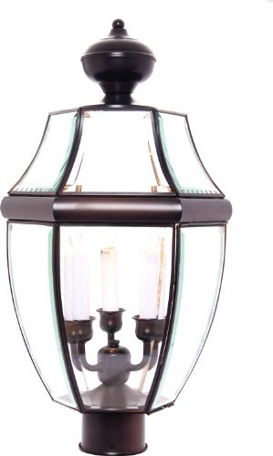 Maxim Lighting 6098 South Park Outdoor Pole/Post Mount Lantern, Burnished Finish, 12 by 23.5-Inch by Maxim Lighting -