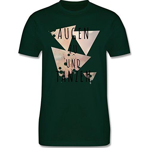 Festival - Augen zu und tanzen - Herren Premium T-Shirt Dunkelgrün