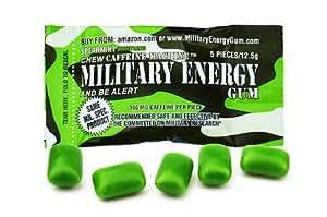 STAY ALERT Military Caffeine Energy Gum - SPEARMINT - 12 Packungen - Wach-Bleib-Kagummi