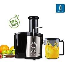 Aigostar MyFrappe Black 30IMX - Licuadora para verduras, vegetales y frutas de dos velocidades, 850 watios, 1'45l de capacidad, libre de BPA