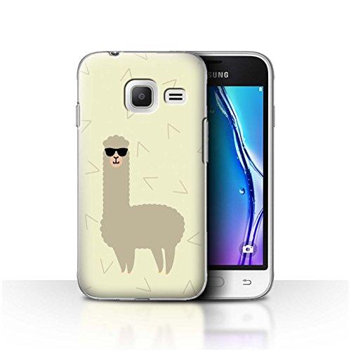 Stuff4® Hülle/Case für Samsung Galaxy J1 Nxt/Mini/Coole Sonnenbrille Muster/Karikatur Alpaka Kollektion
