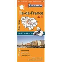 Carte Île-de-France Michelin 2017
