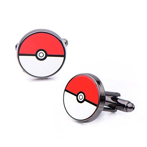 Styler Iconic (Offiziellen Pokemon Pokeball aus rostfreiem Stahl schwarz PVD beschichtet Manschettenknöpfe - Boxed)