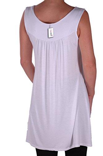 Eyecatch Plus - Haut sans manche droit clous - Evie - Femme Blanc