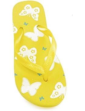 Chanclas con estampado de mariposas para niñas
