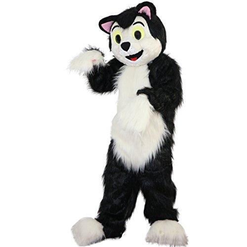 Langteng schwarz Hund Fox Cartoon Maskottchen Kostüm Echt Bild 15-20Tage (Fox Hunde Kostüm)