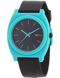 Nixon Unisex-Armbanduhr The Time Teller P Black / Teal Analog Quarz Kautschuk A1191060-00