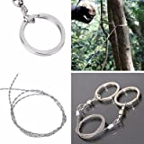 Zorbes Outdoor Camping Hiking Manual Hand Steel Rope Chain Saw Portable Practical Emergency Survival Gear Steel Wire Kits Trave